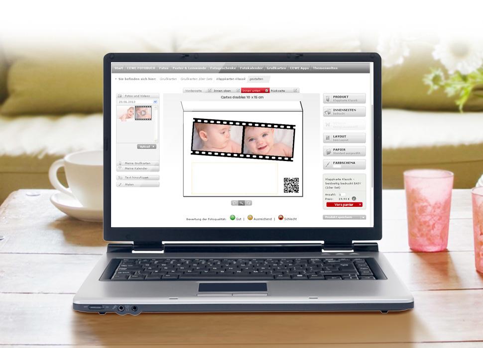 4.  Télécharger la vidéo et la placer sur la carte, un QR code personnalisé est généré.
