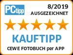 PCtipp - Le LIVRE PHOTO CEWE convainc le magazine professionnel 2019