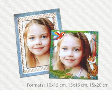 Photos immédiates avec cadre