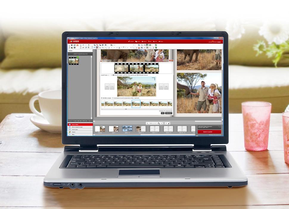 2.Choisir la présentation de la vidéo: titre sur une photo tirée du film ou illustration par une pellicule pouvant aller jusqu'à 6 photos