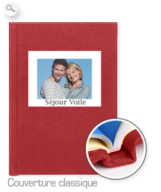 Reliure : couverture classique rouge