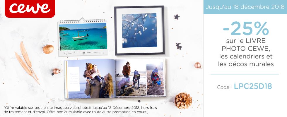 -25% sur le Livre Photo CEWE, les calendriers et les décos murales