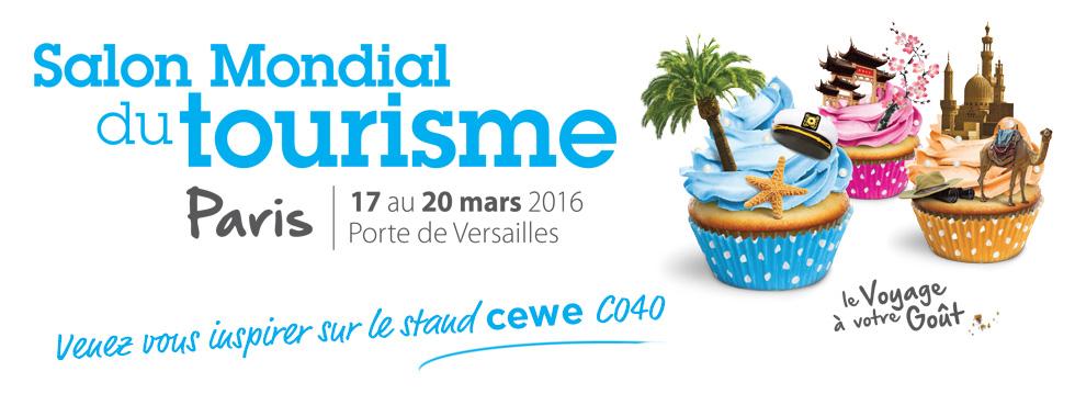 Salon mondial du tourisme du 17 au 20 mars 2016