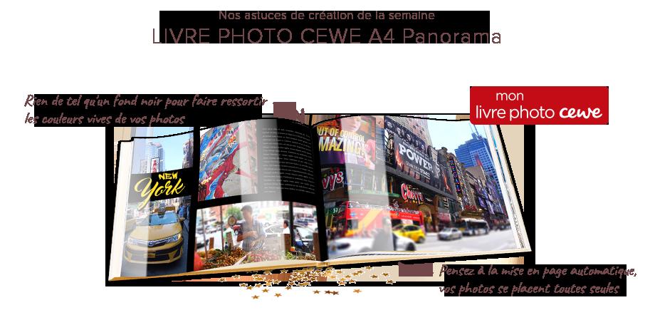 Nos astuces de création de la semaine - LIVRE PHOTO CEWE A4 PANORAMA