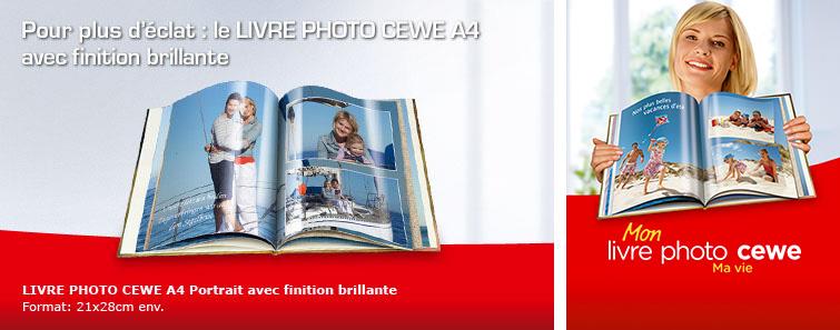 LIVRE PHOTO CEWE A4 Portrait avec un fini brillant avec photo de jardin