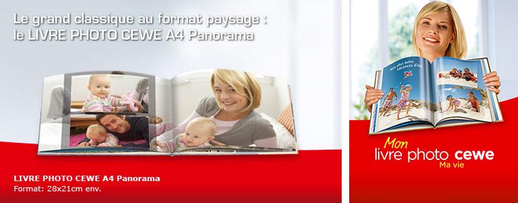 LIVRE PHOTO CEWE A4 Paysage avec photo de bébé
