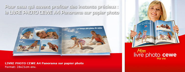 ALBUM A4 sur papier photo