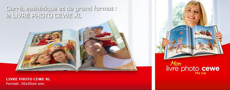 LIVRE PHOTO CEWE A4 XL avec photo de vacances