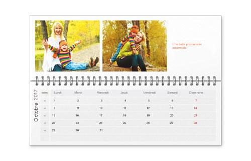 Informations sur le calendrier de bureau
