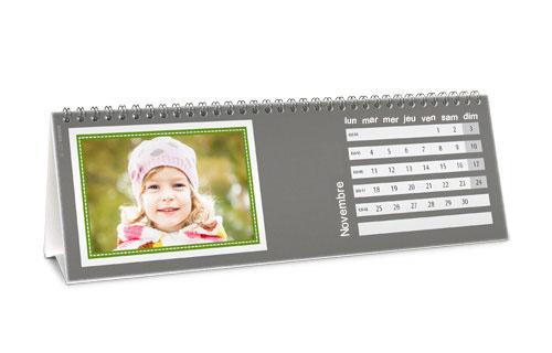 Informations sur le calendrier de bureau chevalet