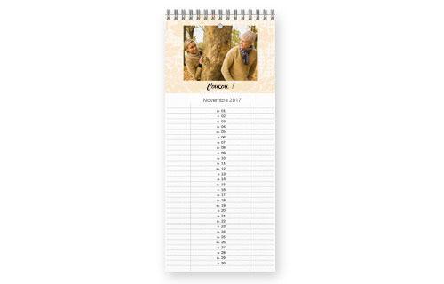 Informations sur le calendrier de cuisine