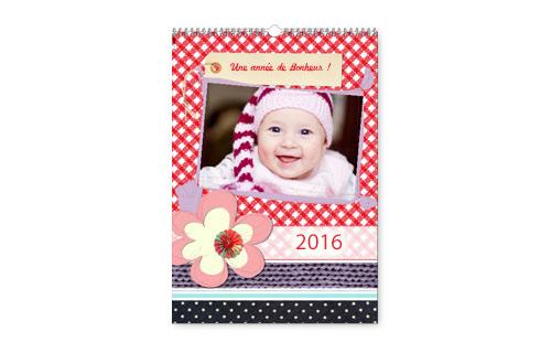 Informations sur calendrier familial A3