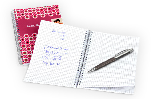 Informations sur les cahiers à spirale