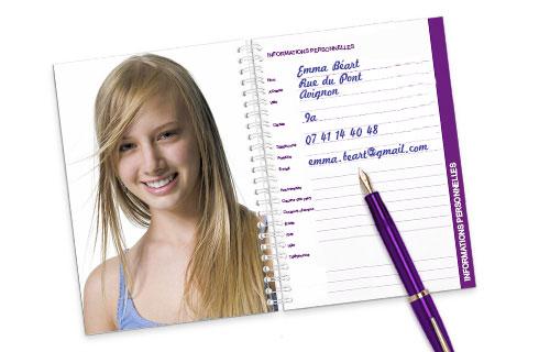 Informations sur l'agenda scolaire