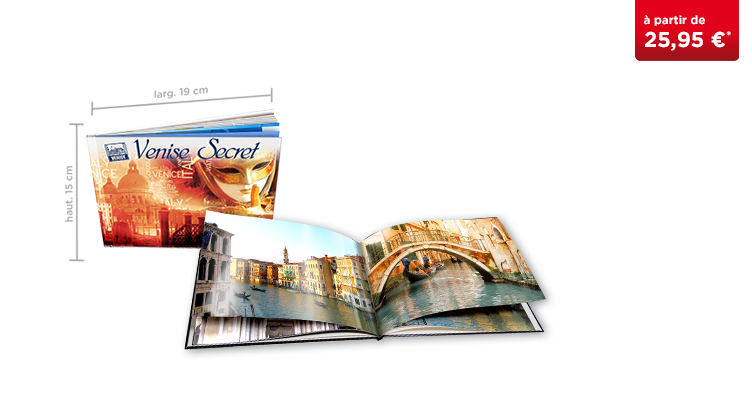 LIVRE PHOTO CEWE A5 Panorama : papier photo brillant