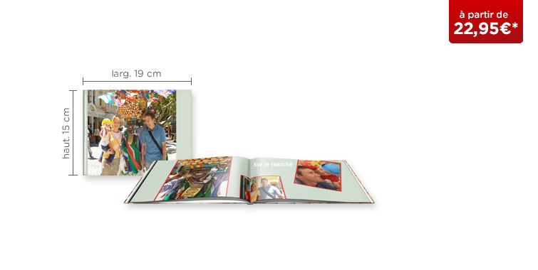 LIVRE PHOTO CEWE A5 Panorama : papier brillant