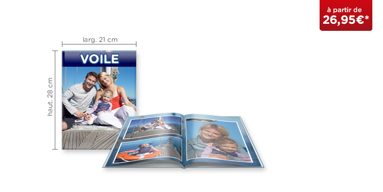 LIVRE PHOTO CEWE A4 Portrait : papier brillant