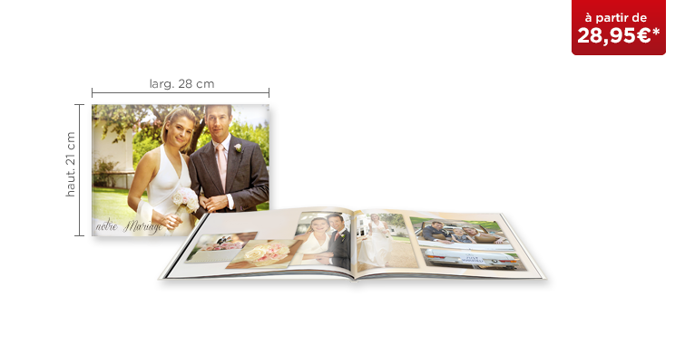 LIVRE PHOTO CEWE A4 Panorama : papier brillant