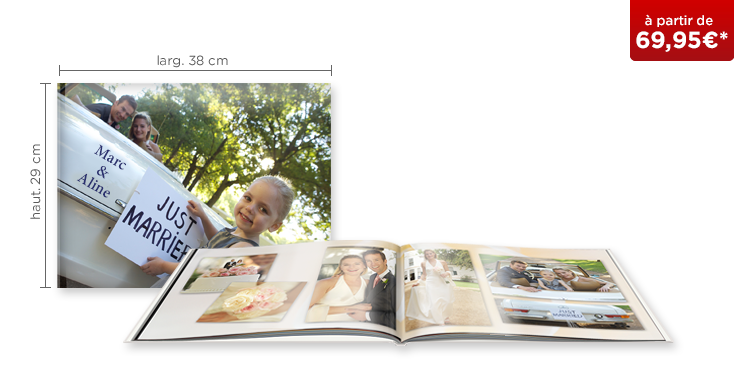 LIVRE PHOTO CEWE XXL Panorama : papier brillant