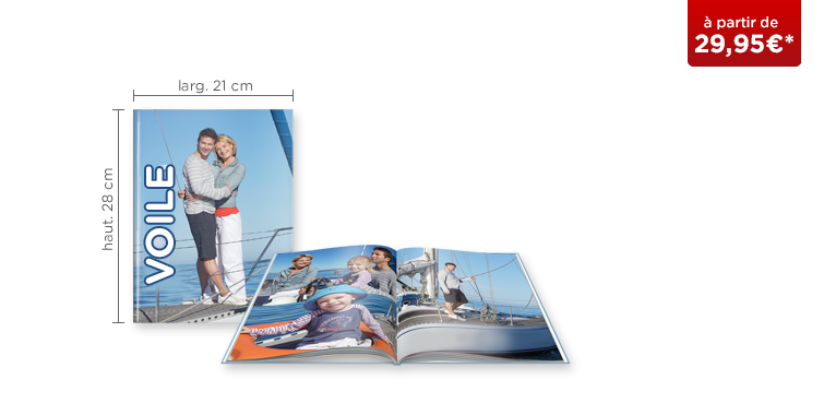 LIVRE PHOTO CEWE A4 Portrait : couverture rigide