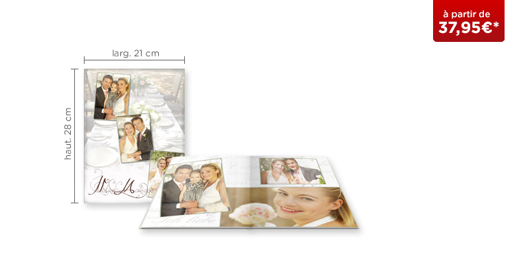 LIVRE PHOTO CEWE A4 Portrait : papier photo brillant