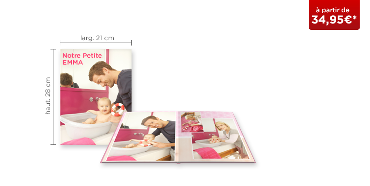 LIVRE PHOTO CEWE A4 Portrait : papier photo mat