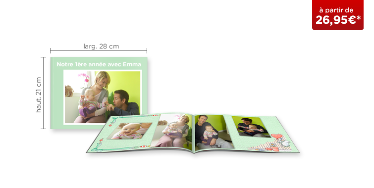 LIVRE PHOTO CEWE A4 Panorama : couverture souple