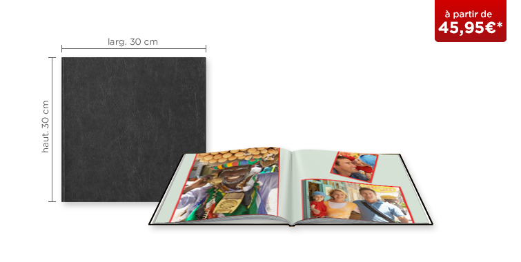 LIVRE PHOTO CEWE XL : couverture similicuir