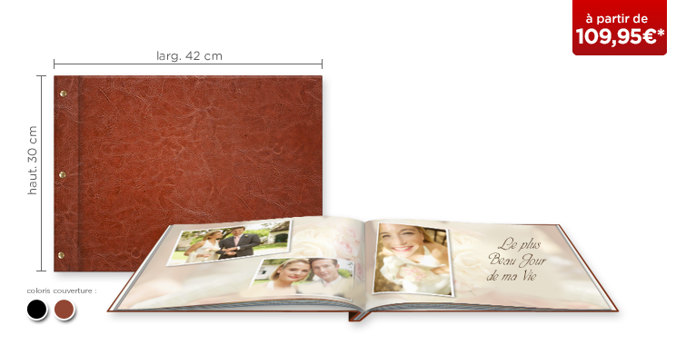 LIVRE PHOTO CEWE XXL Panorama : couverture cuir