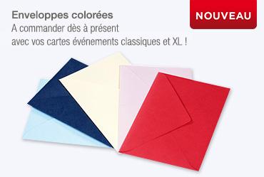 Enveloppe en couleur