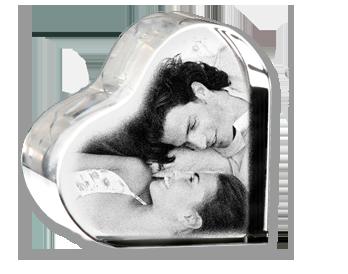 Informations sur le produit Cœur photo cristal