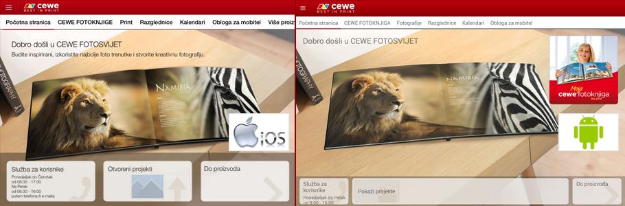 CEWE Fotosvijet aplikacija