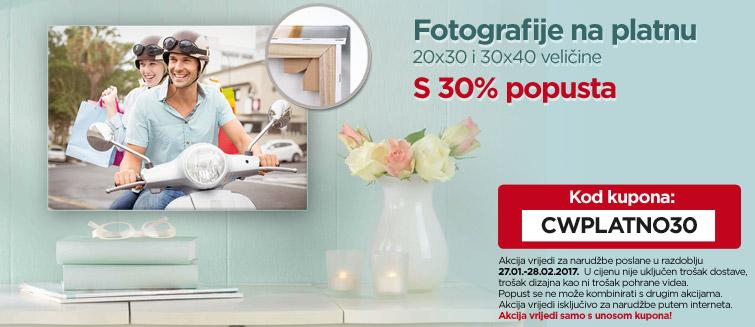 Fotografije na platnu - 20x30 i 30x40 veličine - s 30% popusta