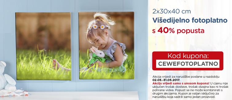 2x30x40 cm Višedijelno fotoplatno  s 40% popusta
