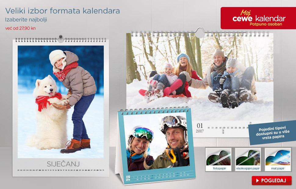 Veliki izbor formata kalendara