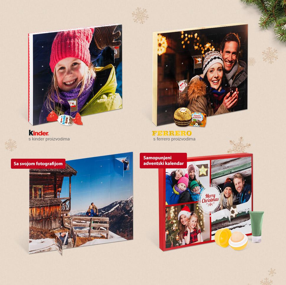 Čokoladni adventski kalendar s vašom fotografijom