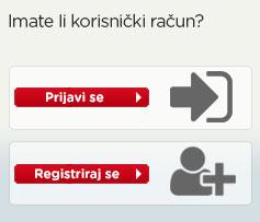 Korisnički račun - Prijava/Registracija
