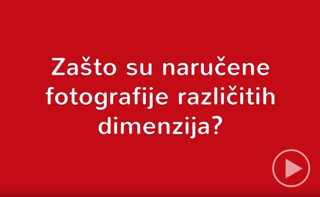 Zašto su naručene fotografije različitih dimenzija?