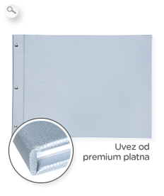 Uvez: premium platno u srebrnoj boji