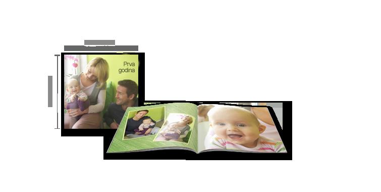Format fotoknjižice - Kvadratna CEWE FOTOKNJIGA