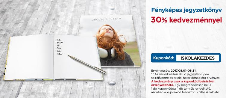 Fényképes jegyzetkönyv 30% kedvezménnyel