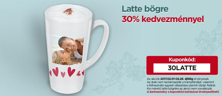 Latte bögre 30% kedvezménnyel
