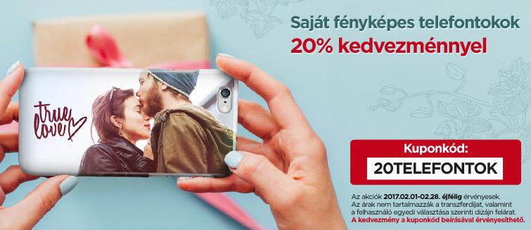 Fényképes telefontok 20% kedvezménnyel