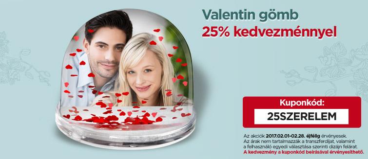 Valentin gömb 25% kedvezménnyel