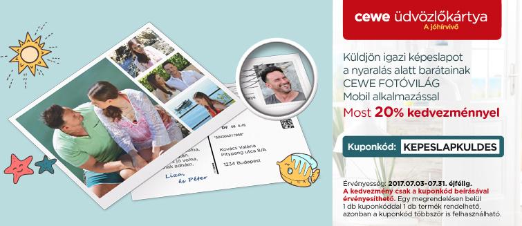 Valódi képeslap küldés mobiljáról 20% kedvezménnyel