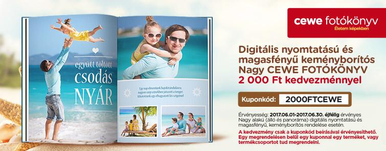 Digitális nyomtatású és magasfényű keményborítós Nagy CEWE FOTÓKÖNYV - 2000 Ft kedvezmény