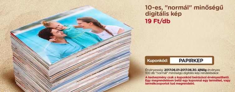 10-es normál minőségű digitális kép 19 Ft/db