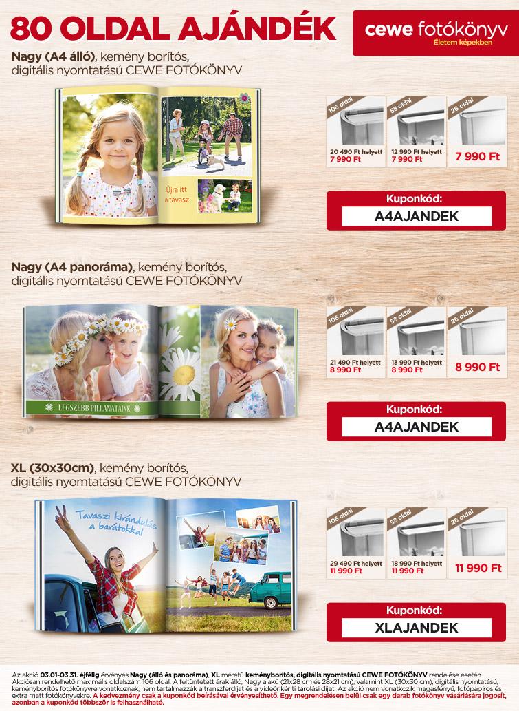 Nagy CEWE FOTÓKÖNYV - 80 oldal ajándék