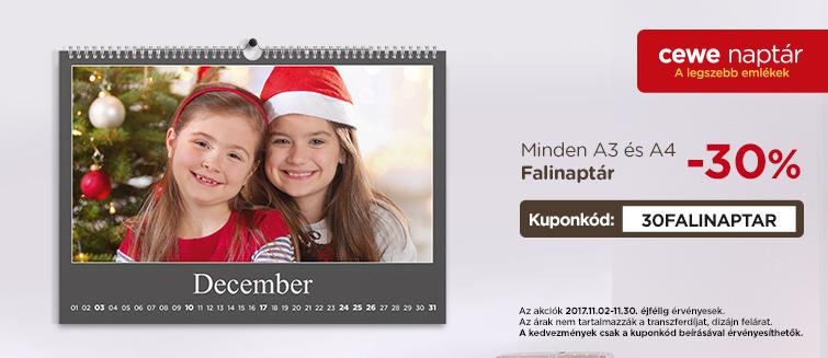 Fényképes A4 falinaptár - foto.edigital.hu