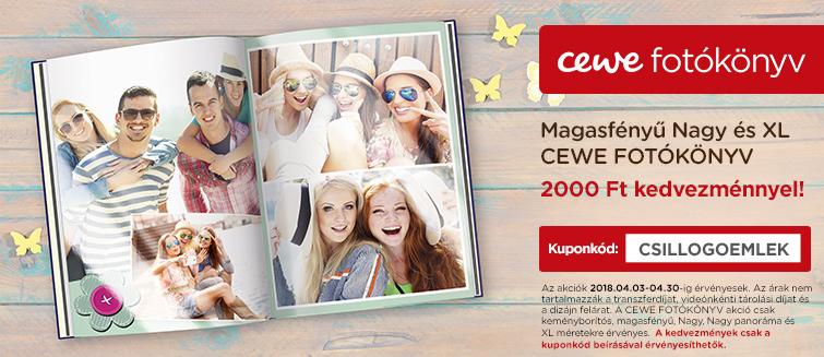 Magasfényű Nagy és XL CEWE FOTÓKÖNYV -2000 Ft